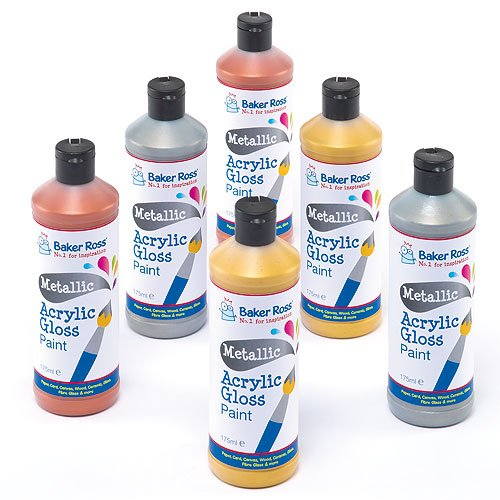 metallic-acrylic-paint-175-ml-3-assorted-colours-water-based-paint-for-childrens-painting-crafts-set