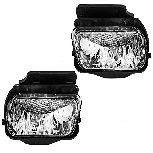 Driver and Passenger Fog Lights Lamps Replacement for Chevrolet Pickup Truck 15791433 15791434 (2005 Chevy Silverado Fog Lights compare prices)