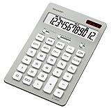 SHARP 12桁デザイン電卓(ナイスサイズタイプ) シルバー系 EL-N802-SX