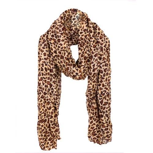 Women-Leopard-Pattern-Semi-Sheer-Soft-Leisure-Scarf