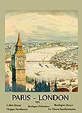 Paris London England UK France Travel Tourism Vintage Poster Repro 12