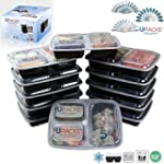 Upacke Meal Prep 12-sets, 3-Compartme...
