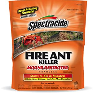 Spectracide Fire Ant Killer Mound Destroyer Granules, 3.5-Pound