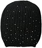 La Fiorentina Women's Ribbed Beanie with Jewels