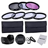 Neewer® 55MM Professional Lens Filter and Close-up Macro Accessory Kit for Canon EOS 400D/ Xti;450D / Xsi; 1000D/ XS; 500D/T1i;550D/ T2i;600D/T3i; 650D/T4i;700D/T5i;100D;1100D; Nikon Sony Samsung Fujifilm Pentax and Other DSLR Camera Lenses with 55MM Fil