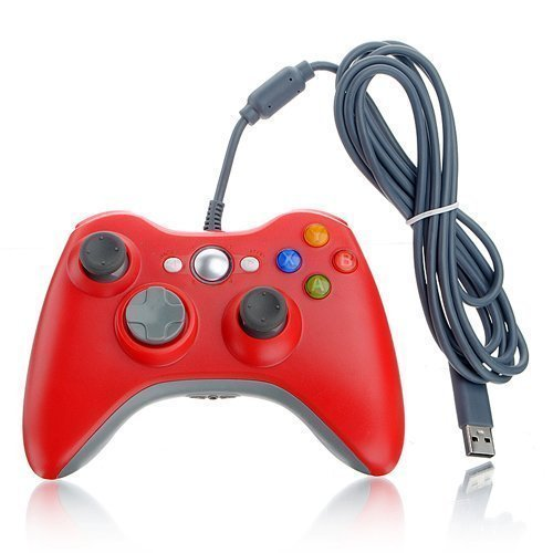 DuaFire Red Wired USB Pad Joypad Game Controller For MICROSOFT Xbox 360 PC Windows (Xbox Wired Controller For Pc compare prices)