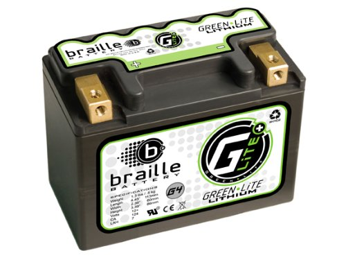 Braille Battery Green-Lite G4 12 Volt Lithium Motorcycle ATV Battery