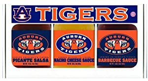 Auburn Tigers NCAA Triple Play Gift Set (16oz BBQ Sauce, 16oz Picante Salsa, 16oz Cheeze Dip) from Hot Sauce Harry's