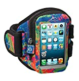 Armpocket? Aero i-10 armband for iPhone 5s/5c/4 or similar phones and cases up to 5 inches. Splash, Medium Strap Length