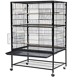 World Pride 52\'\' Wrought Iron Select Bird Cage Parrot Macaw Cockatoo Birdcage Stands