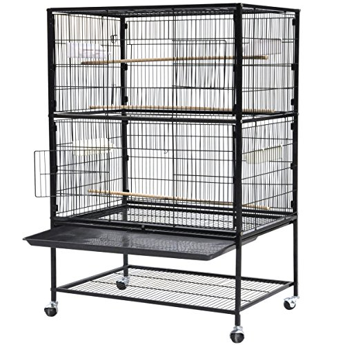 World Pride 52'' Wrought Iron Select Bird Cage Parrot Macaw Cockatoo Birdcage Stands
