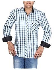 BLACK & WHITE Men's Slim Fit Shirt - B00WMR7AD4