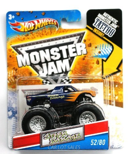 Hot Wheels 2011 Tattoo Series Monster Jam Storm Damage 52/80