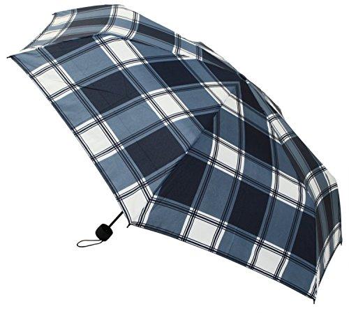 【晴雨兼用】 折りたたみ傘 収納袋入 ネイビーチェック ミニ 58cm MSM-005