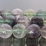 【天然石 ビーズ】【レインボーフローライト(天然)】 丸玉 10mm 1連(約38-40cm)