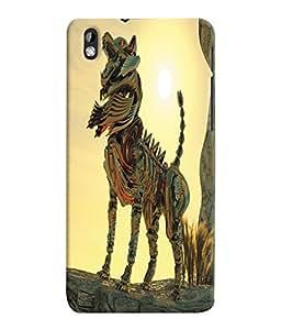 Fuson 3D Printed Fantasy Fox Designer Back Case Cover for HTC Desire 816 - D1058