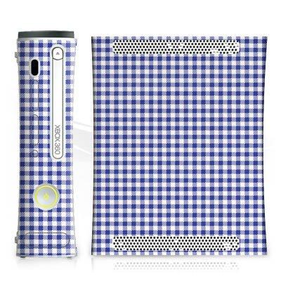 microsoft-xbox-360-skin-habillage-autocollant-karo-blau