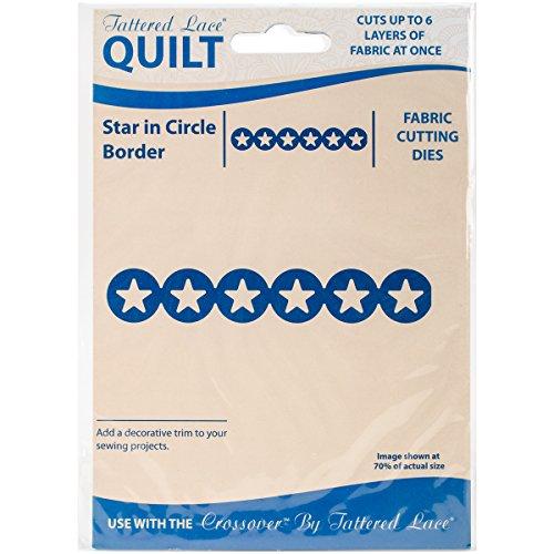 Tattered Lace-Fustella In coordinato copri-piumino e federe, per bordi circolari a forma di stelle