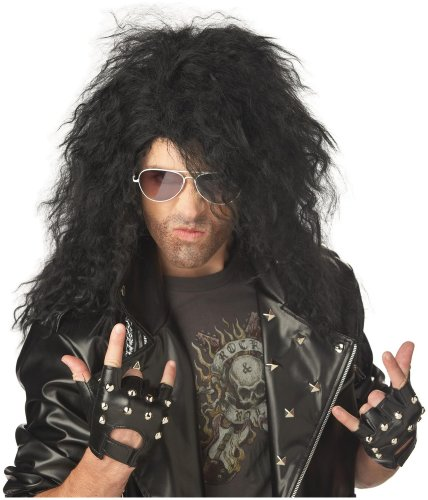 California Costume Collection Unisex Adult Heavy Metal Rocker Black Adult Wig