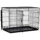 Precision Pet Black Great Crate 2 Door 42-Inch x 28-Inch x 31-Inch