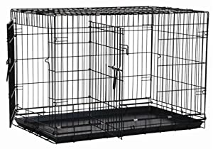 Precision Pet Black Great Crate  2 Door 48 in. x 30 in. x 33 in.
