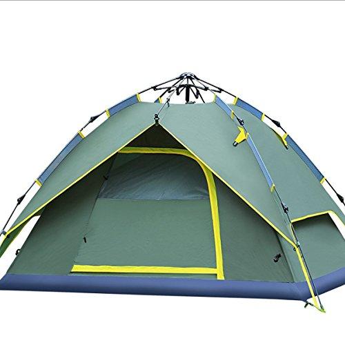 Idraulico Tenda Baldacchino per campeggio impermeabile automatico idraulico tenda 3-4persone, facile da configurare e pacchetto verde da Qisan