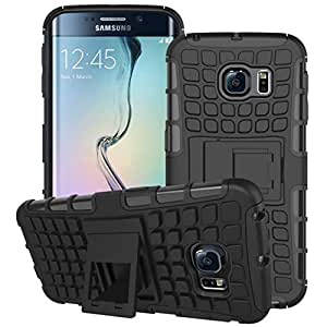 DENWA Shockproof Armor with Kickstand Case For Samsung Galaxy S6 Edge