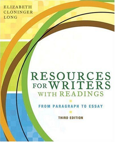 Resources for Writers with Readings (with MyWritingLab Student Access Code Card) (3rd Edition)