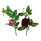 Thefancymart Artificial Rose Flower Plant Set Of 2 Sticks Style Code-83