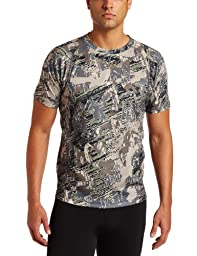 Sitka Gear Core Crew Short Sleeve Base Layer Shirt, Optifade Open Country, Medium