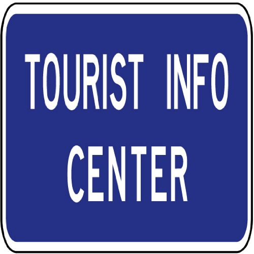 Street & Traffic Sign Wall Decals – Tourist Info Center Sign – 36 inch Removable Graphic