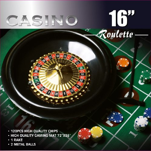 Great Features Of Da Vinci 16-Inch Roulette Wheel Game Set with 120 11.5-Gram Chips, Full Size 3'x6'...