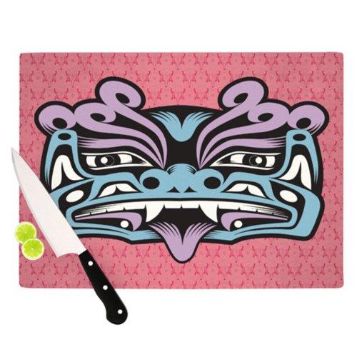 Kess Inhouse Louie Gong Blue Fu Dog Artists Cutting Board, 11.5 By 15.75-Inch