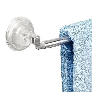 Interdesign 42120EU Power Lock Reo - Toallero con ventosas para toalla de mano (acero inoxidable pulido)   Comentarios de clientes y más información
