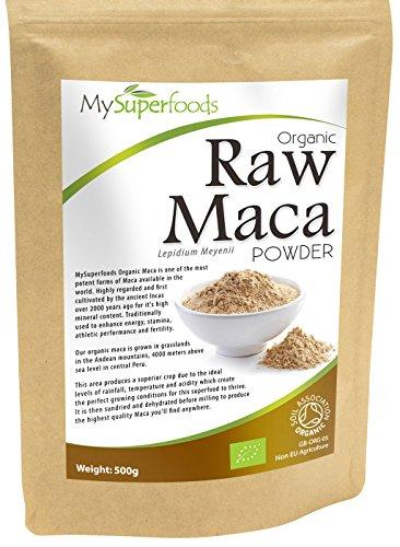 Bio Maca-Pulver (500g) Höchste Qualität Bio-Garantie der Soil Association Von MySuperfoods