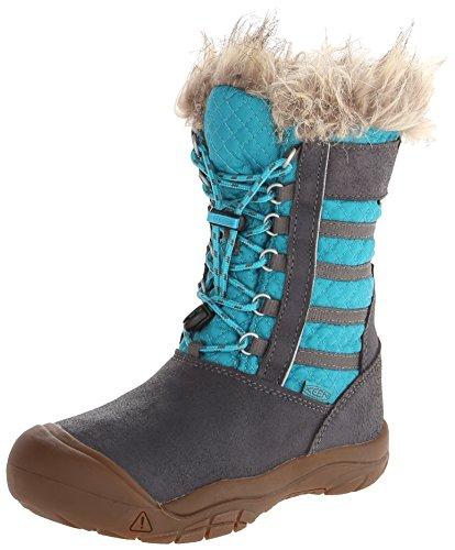KEEN Wapato WP Youth Snow Boot ,Magnet/Capri Breeze,2 M US L