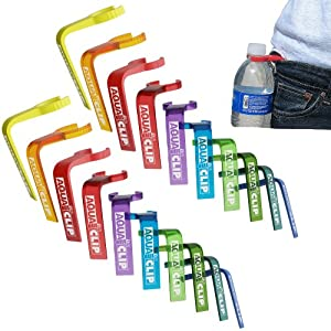 Aqua Clip Water Bottle Holder (20 PACK) - Water Bottle Carrier Accessory for Hiking,... by SOS Rescue Tools