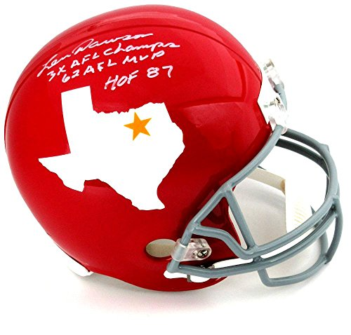 "Len Dawson Signed Dallas Texans Riddell Throwback Full Size NFL Helmet with ""3x AFL Champs - 62 AFL MVP - HOF 87"" Inscription"