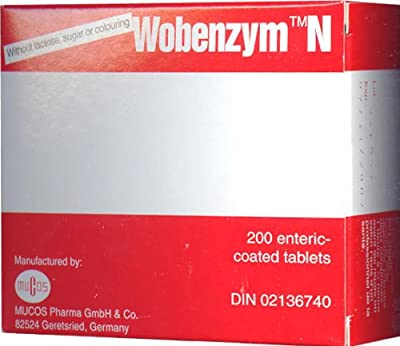 Wobenzym N (Wobenzyme) - Enteric Coated - 200 tablets - ZIN: 407752
