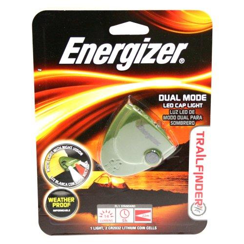 Energizer Trail Finder Dual Mode 3-Led Cap Light (Green)
