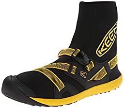 KEEN Men\'s Gorgeous Water Boot, Black/Yellow, 12 M US