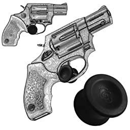 3 Pack Taurus Small And Medium Frame Revolver 22 Long Rifle 9mm .45 410 .357 Magnum and 38 Special Quick Release Concealed Carry Micro Holster Trigger Stop by Garrison Grip (Black)