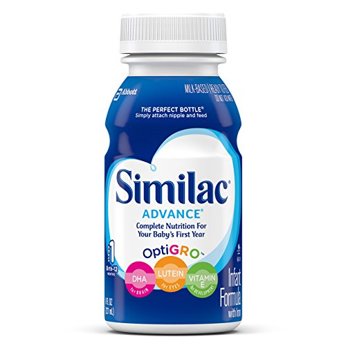 Similac Advance Infant Formula with Iron, Stage 1 Ready-to-Feed Bottles, 8 Ounce, (Pack of 24) (Packaging May Vary) (Ready Made Formula compare prices)