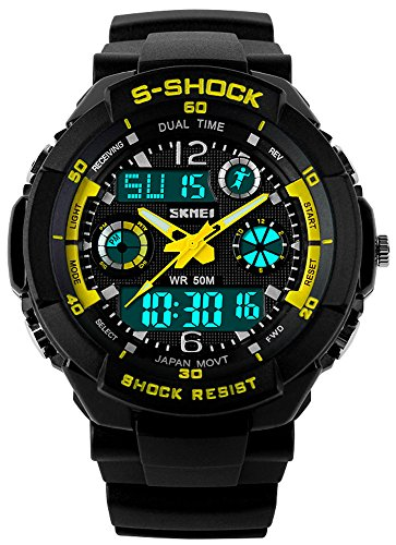 fanmis-sports-watches-multifunction-dual-time-led-light-waterproof-dual-time-alarm-s-shock-watch-yel