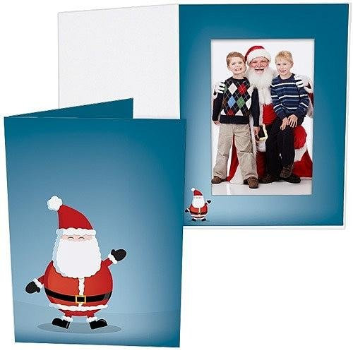 Jolly Santa Holiday Photo Folder For 5X7 Portrait Prints Our Price Is For 50 Pcs - 5X7