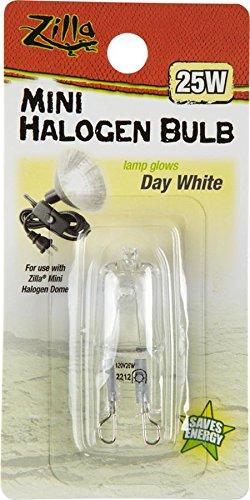 Zilla Reptile Terrarium Heat Lamps Mini Halogen Bulb, Day White, 50W (Bearded Dragon Heat Lamp Bulb compare prices)