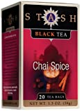 Stash Premium Chai Spice Black Tea, Tea Bags, 20-Count Boxes (Pack of 6)