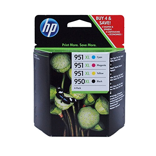 Hewlett Packard – HP 950-951 XL Four Pack- Black & Color Inkjet Ink Set