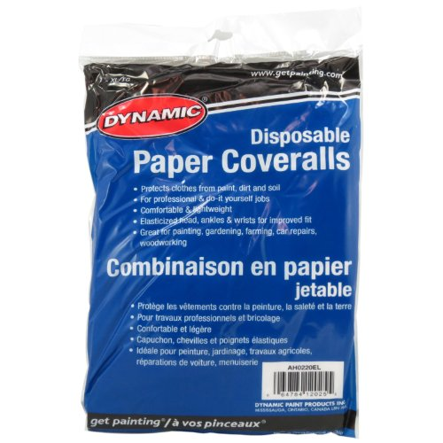 Dynamic Paint AH0220EL Disposable 1.6-Ounce  Paper Coverall, Size X-Large