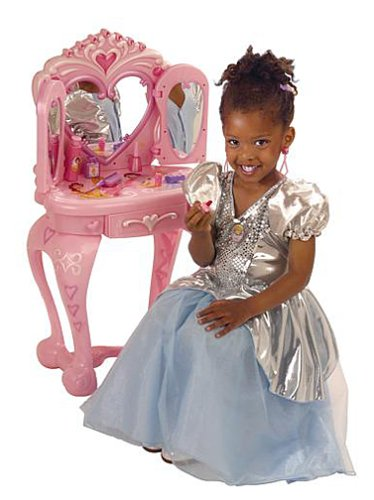 Barbie Vanity Light Up Mirror : Cinderella Castle Playset: Disney Princess: Vanity Table with Stool